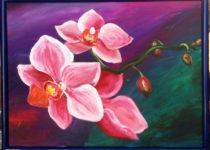"""Орхидея"", холст, масло"
