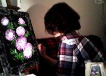 Светлана пишет картину дома в Испании