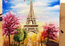 """""""Париж"""", Картина маслом с нуля, Студия рисования """"Краски"""", Тула"""
