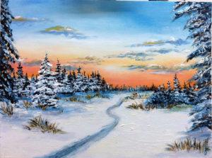 Зимний лес. Холст, масло и капелька воображения