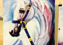 """""""Белая Лошадь"""", холст, масло."""