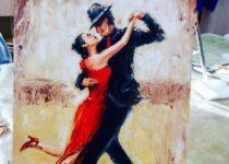"""""""Танго"""", Картина маслом с нуля, Студия рисования """"Краски"""", Тула"""