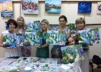 Результаты мастер-класса: замечательные картины получились у всех!