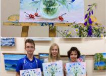 Участники прекрасно справились с техникой комбинированной живописи! Молодцы!