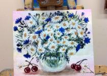 Картина Полины, участницы МК по маслу с нуля. Это её первая в жизни картина маслом! Супер!