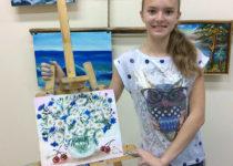 Вот такая красивая картина получилась у нашей замечательной участницы Полины :)