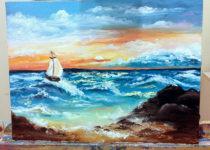 """""""Море"""", холст, масло"""