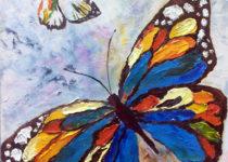 """Бабочка"", объёмная техника живописи мастихином"