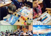 Так проходил наш выездной мастер-класс по рисованию в школе №14, Тула