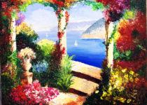 Картина Ани - первая в жизни картина маслом! Восхитительно!