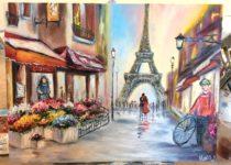"""""""Париж"""". Картина маслом с нуля, Студия рисования """"Краски"""", Тула"""