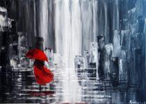 """""""Сеньорита"""", картина с МК по акрилу с нуля. Автор Корчагина С."""